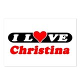 I Love Christina Postcards (Package of 8)