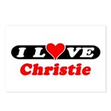 I Love Christie Postcards (Package of 8)