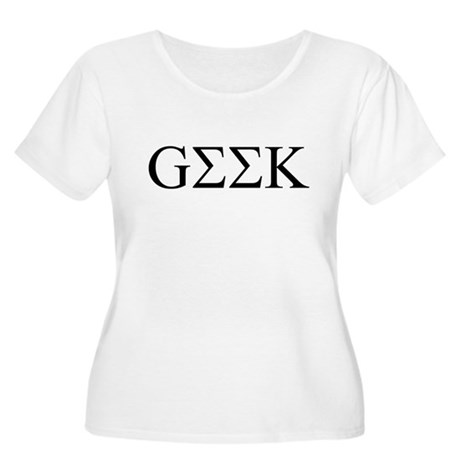 Geek in Greek Letters Womens Plus Size Scoop Neck