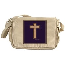 Psalm 136 26 Bible Verse Messenger Bag
