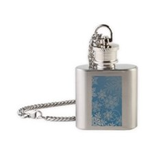 Winter Snowflakes Flask Necklace