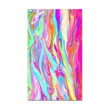 Bright Neon Abstract Art Rectangle Car Magnet