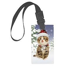 Snowy Kitten Luggage Tag