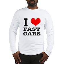 I Heart (Love) Fast Cars Long Sleeve T-Shirt