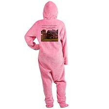 God Made a Farmer Footed Pajamas