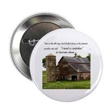 "God Made a Farmer 2.25"" Button"
