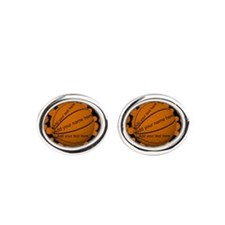 Basketball Oval Cufflinks