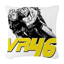 VR46bike2 Woven Throw Pillow