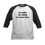 Rather be eating Ice Cream F Kids Baseball Jersey