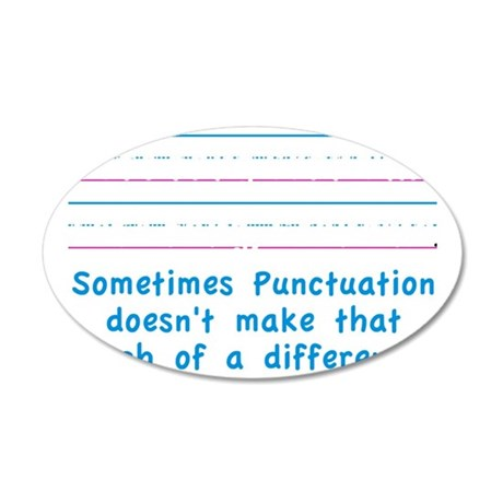 Punctuation 35x21 Oval Wall Decal