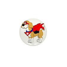 Beagle Super Hero Mini Button