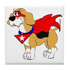 Beagle Super Hero Tile Coaster