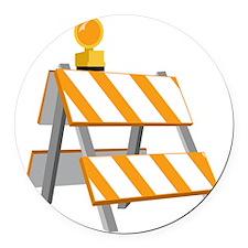Construction Barrier Round Car Magnet