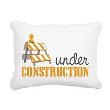 Under Construction Rectangular Canvas Pillow