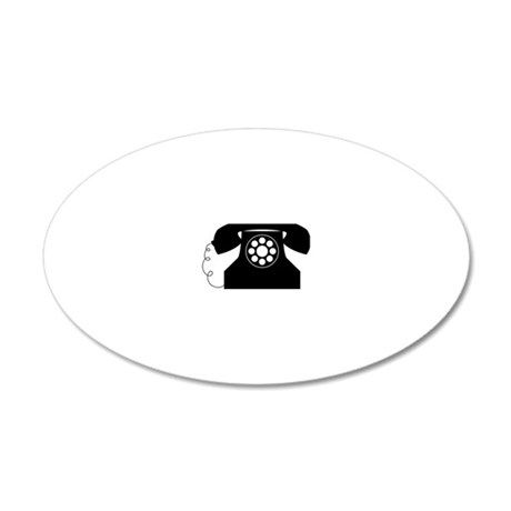Telephone 20x12 Oval Wall Decal