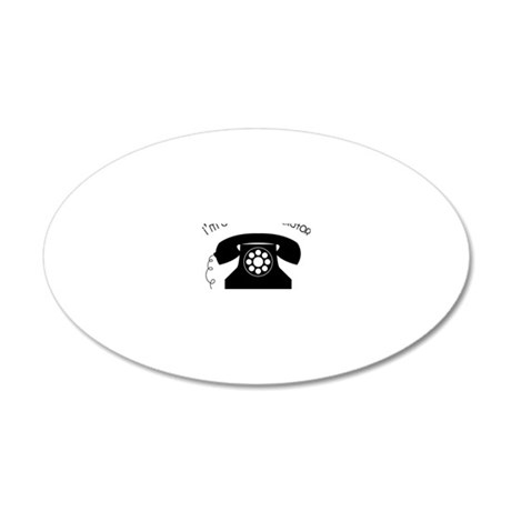 I'm a Smooth Operator 20x12 Oval Wall Decal
