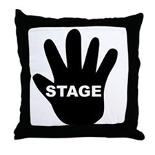 Stage Hand Throw Pillow