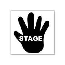 "Stage Hand Square Sticker 3"" x 3"""