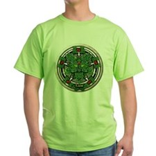 Rowan Celtic Greenman Pentacle T-Shirt
