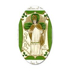 St. Patricks Breastplate Lar 35x21 Oval Wall Decal