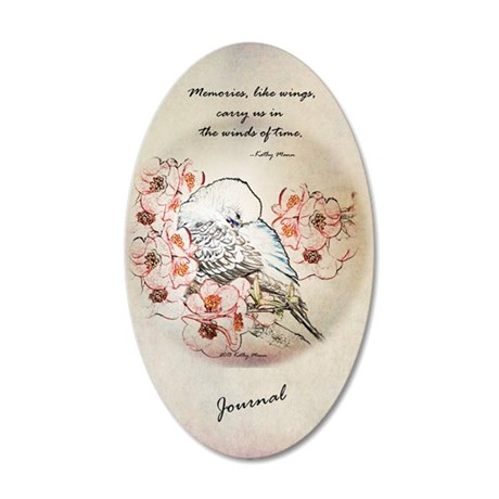 Parakeet 004 - Dreams 35x21 Oval Wall Decal