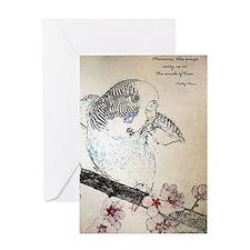 Parakeet 007 - Breeze Greeting Card