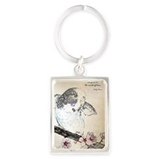 Parakeet 007 - Breeze Portrait Keychain
