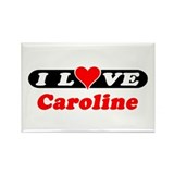 I Love Caroline Rectangle Magnet