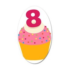 8th Birthday Cupcake Wall Decal