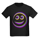 Smiley Swirl Kids Dark T-Shirt