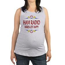 Ham Radio Happy Life Maternity Tank Top