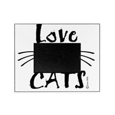 ligth love cats whiskers tee Picture Frame