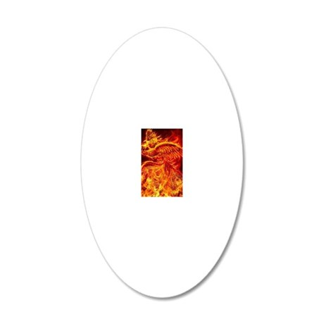 Phoenix Rising 20x12 Oval Wall Decal