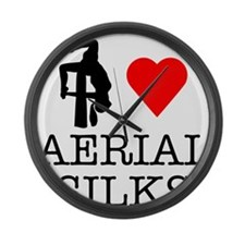 I Love Aerial Silks Large Wall Clock