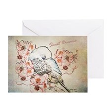 Parakeet 004 - Sweet Dreams Pillow C Greeting Card