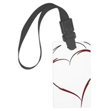 Heart with Horns Large Luggage Tag