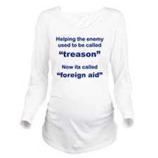 HELPING THE ENEMY US Long Sleeve Maternity T-Shirt