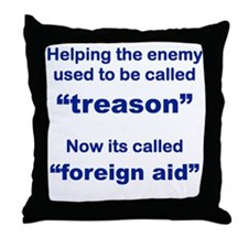 HELPING THE ENEMY USED TO BE CALLED T Throw Pillow