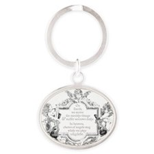 Ukulele Benediction Oval Keychain