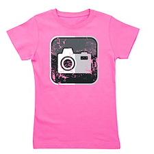 Kamera-Symbol (used look) Girl's Tee