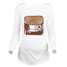 Kaffee-Symbol (used- Long Sleeve Maternity T-Shirt