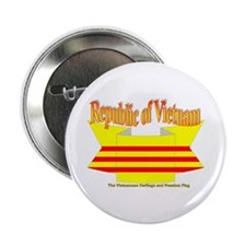 The Vietnamese-american flag ribbon Button