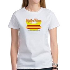 The Vietnamese-american flag ribbon Tee