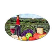 Wine  Cheese landscape Wall Decal