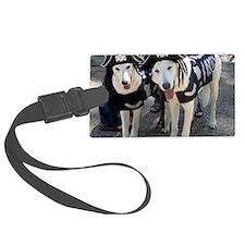 white shepherds Luggage Tag
