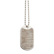 Leonardo Da Vincis Handwriting Dog Tags