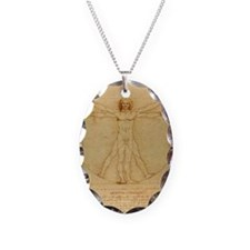 Da Vincis Vitruvian Man Necklace