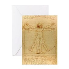 Da Vincis Vitruvian Man Greeting Card