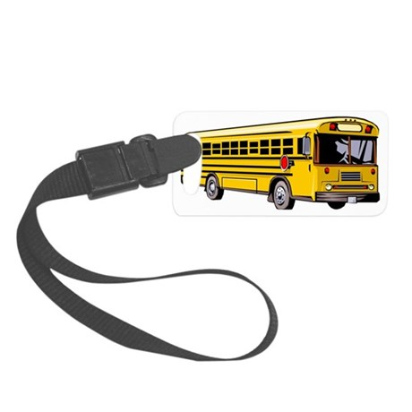 School Bus Small Luggage Tag