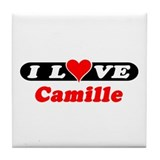 I Love Camille Tile Coaster